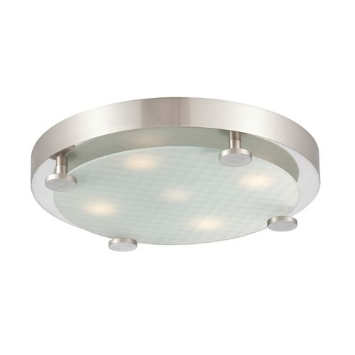 Philips lighting modern led flushmount light in brushed nickel finish