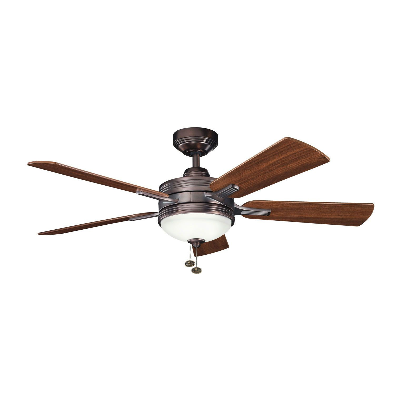 kichler logan oil brushed bronze 52 inch ceiling fan ceiling fans