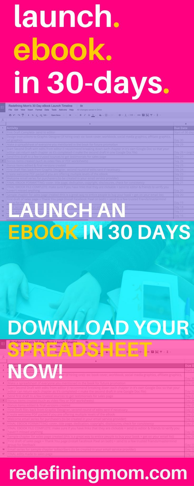 Launch An Ebook In 30 Days Download Your Launch Timeline