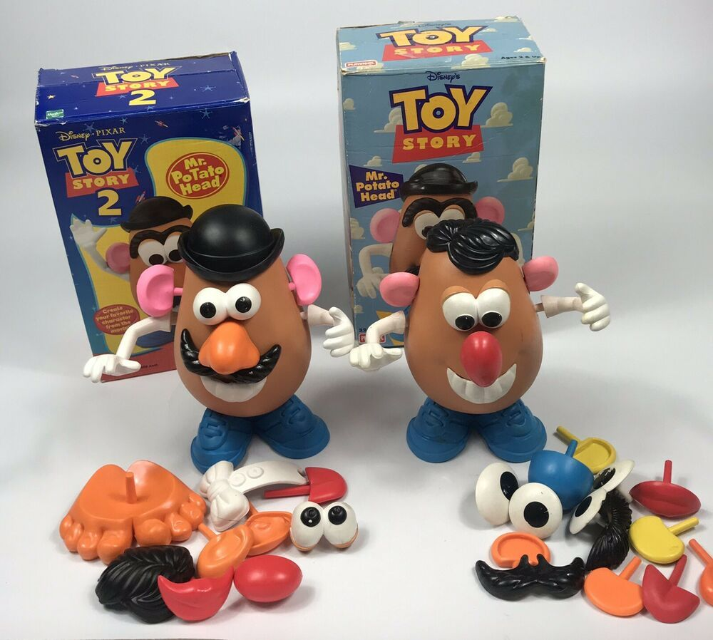 Disney Pixar Toy Story 2 Movie Mr Potato Head Lot Of 2