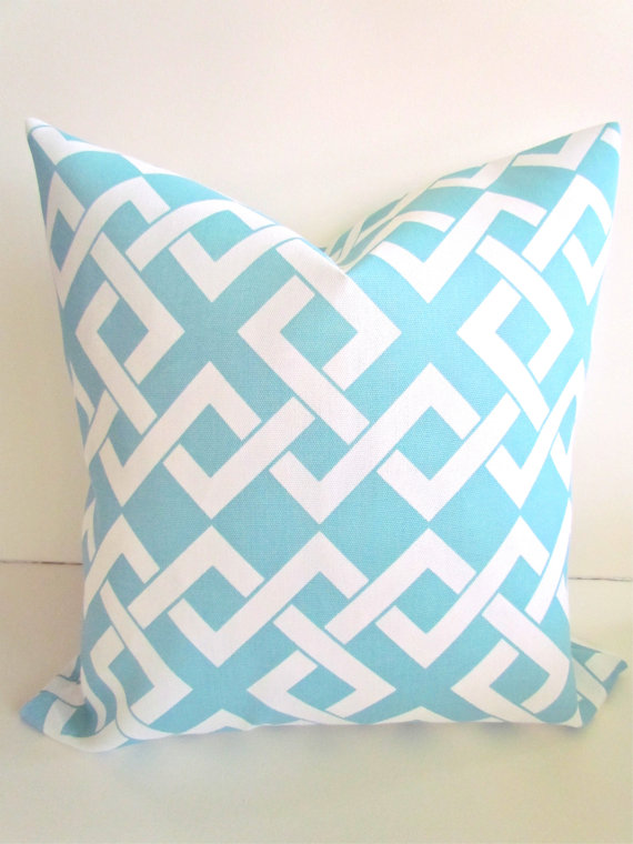 OUTDOOR PILLOWS Light Blue Throw Pillow Covers Blue Outdoor Pillows Unique Light Blue Throw Pillow Covers