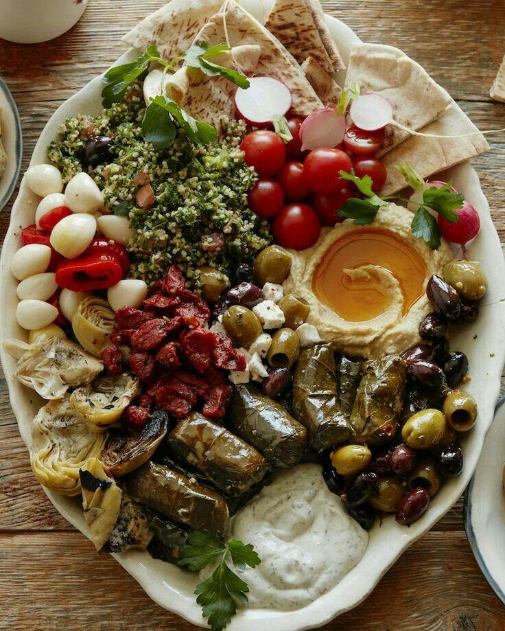 mediterranean party dish wine pinterest essen vegetarisch und fingerfood. Black Bedroom Furniture Sets. Home Design Ideas