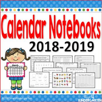 Interactive Calendar Notebooks for All Year 2018-2019 in 2018