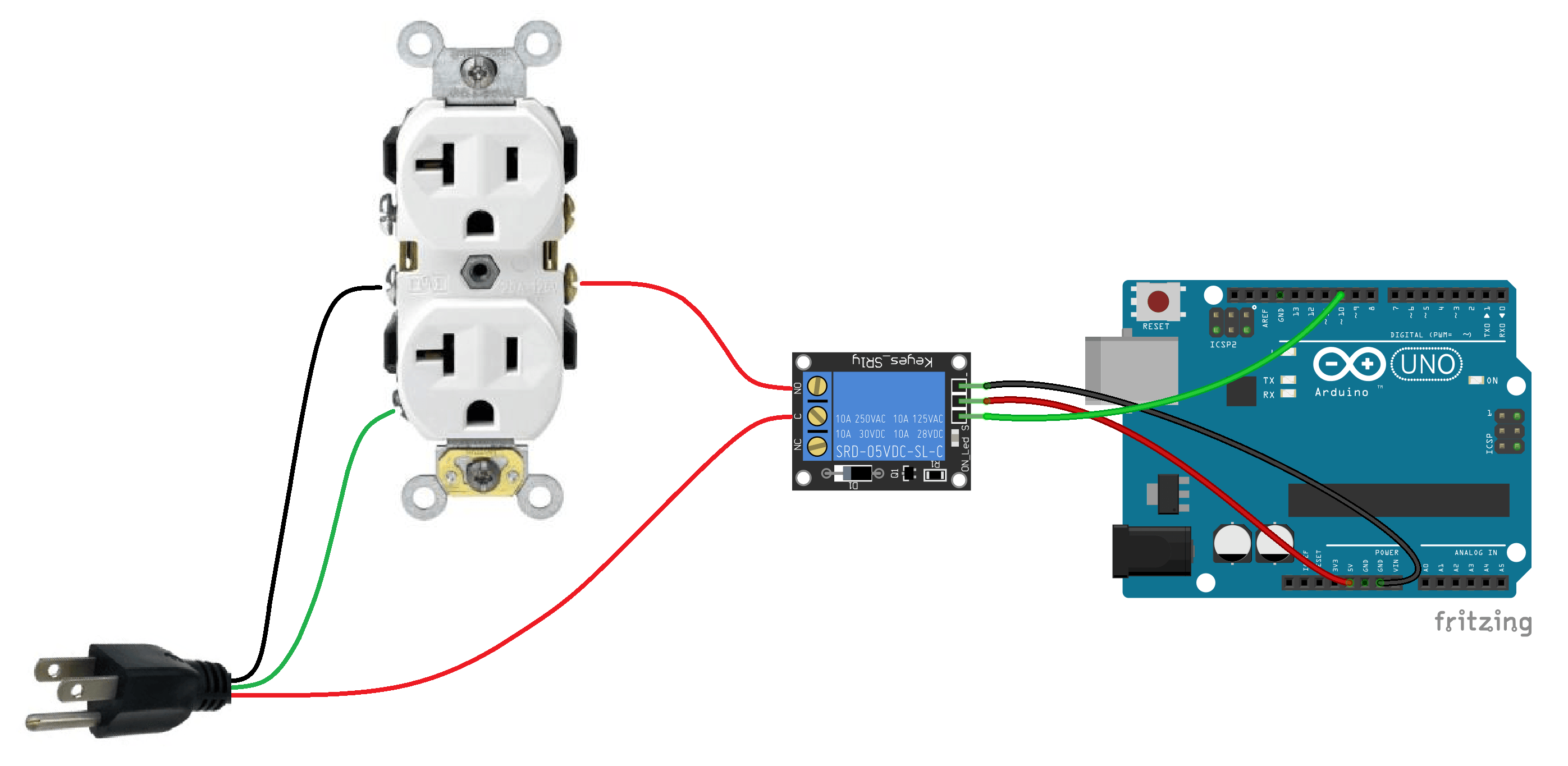 Arduino Controlled Power Outlet Basic Diagram | arduion | Pinterest ...