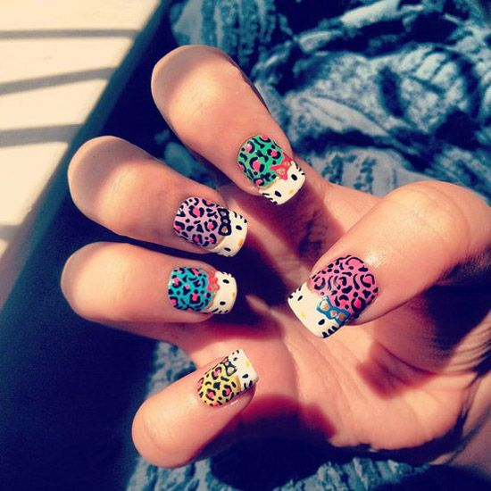 15-Cute-Simple-Hello-Kitty-Nail-Art Designs-Stickers-Nail-Art-For-Beginners-6