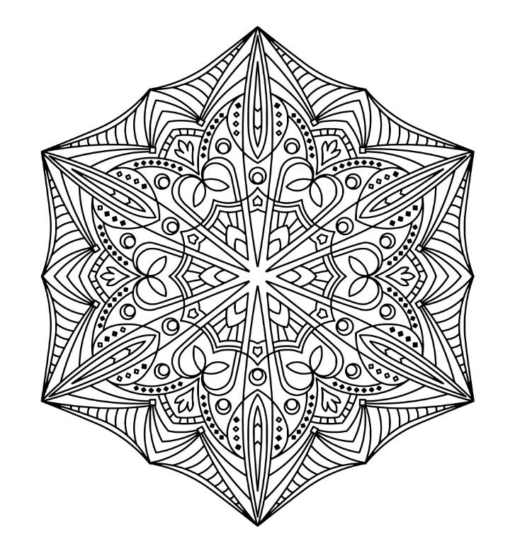 Pin by La Chelong on Art | Pinterest | Mandala coloring, Mandala ...