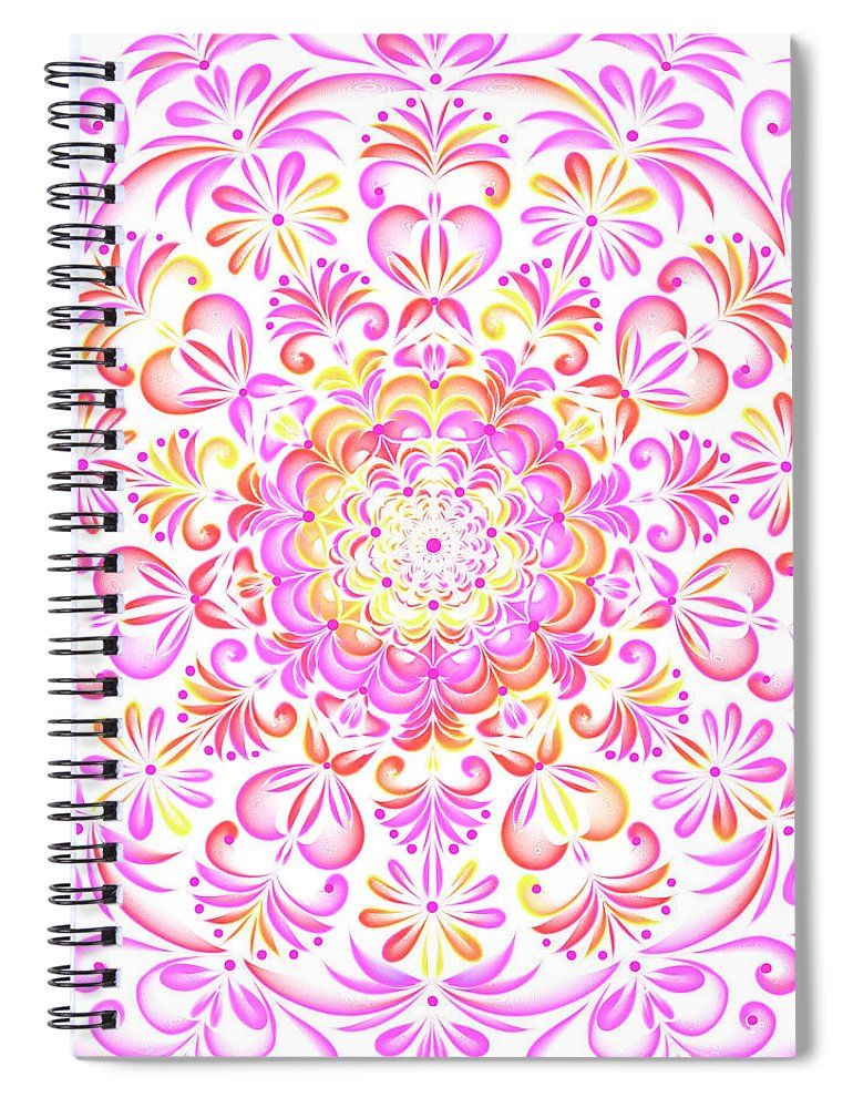 Multi Colored Mandela Spiral Notebook For Sale By Sharalee Art