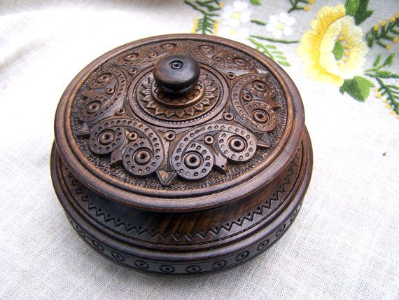 Jewelry box Wooden box Ring box Carved wood box Wedding gifts Wood