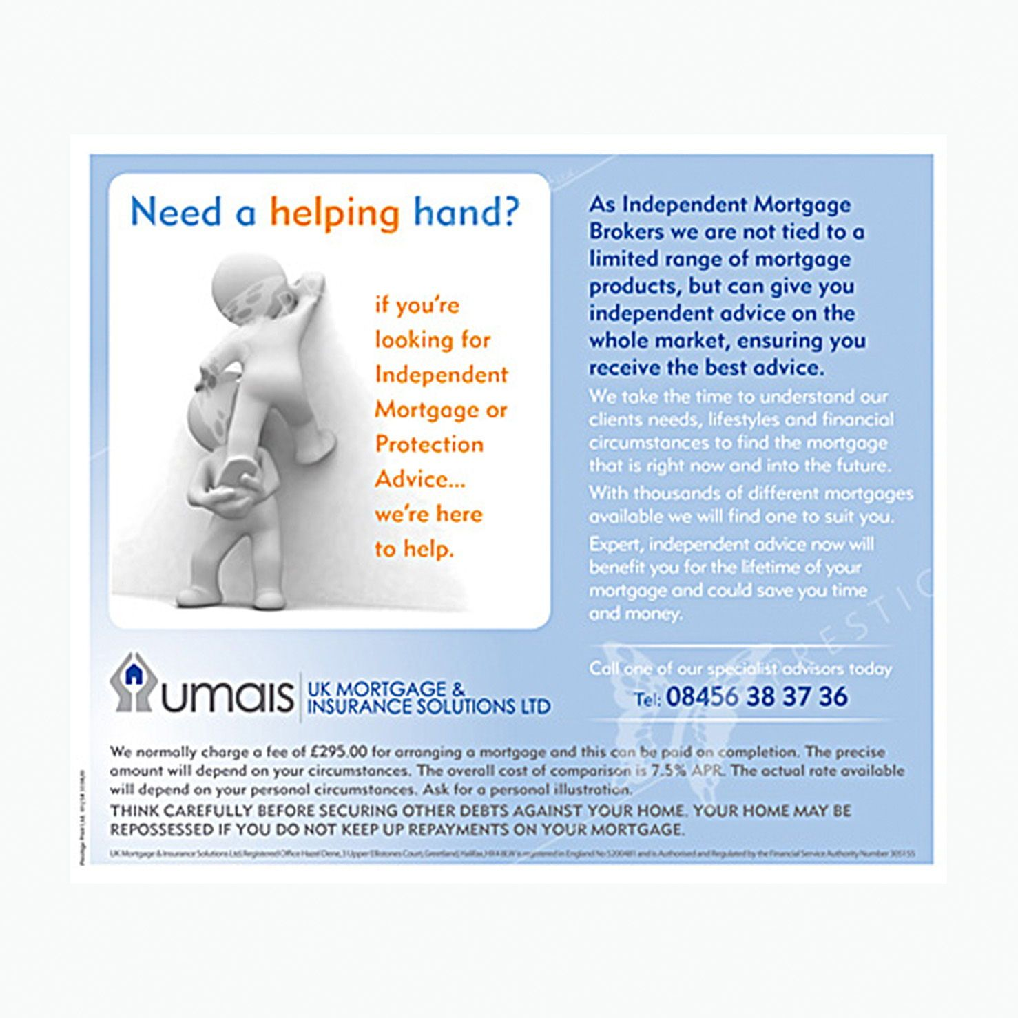Helping Hand Mortgage Leaflet Leaflet Design Leaflet Mortgage