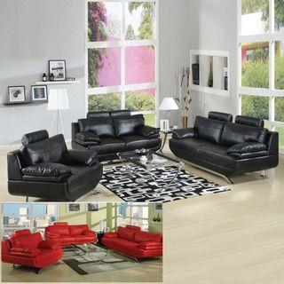 overstock com jessica 2 piece bonded leather sofa and loveseat set rh pinterest com