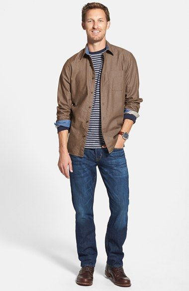 Wallin & Bros. Sport Shirt, Grayers T-Shirt & Hudson Jeans Straight Leg Jeans  available at #Nordstrom