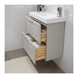 godmorgon hagaviken sink cabinet with 2 drawers kasj n light gray rh pinterest com