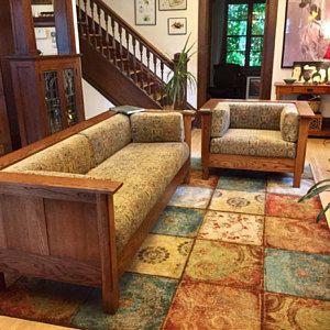 mission arts crafts stickley style bow arm morris chair recliner rh pinterest com