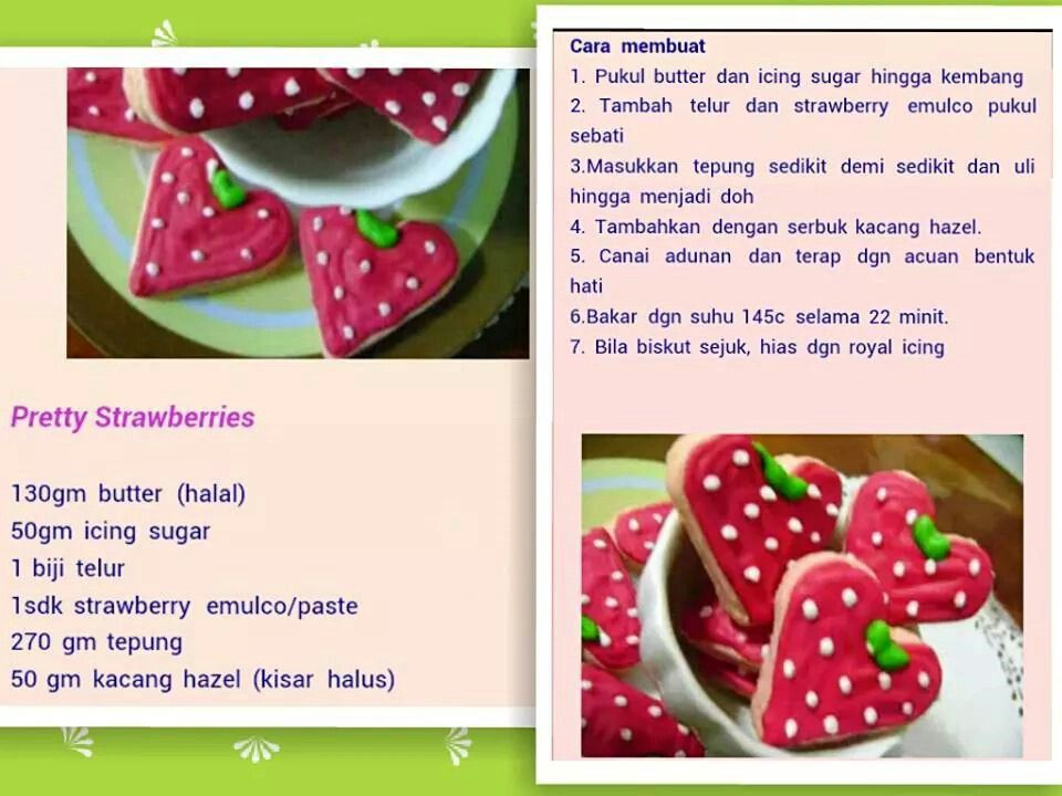 Pretty strawberry cookies
