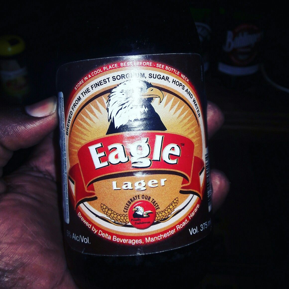 Eagle Lager From Zimbabwe Beer Bottle Store Lager