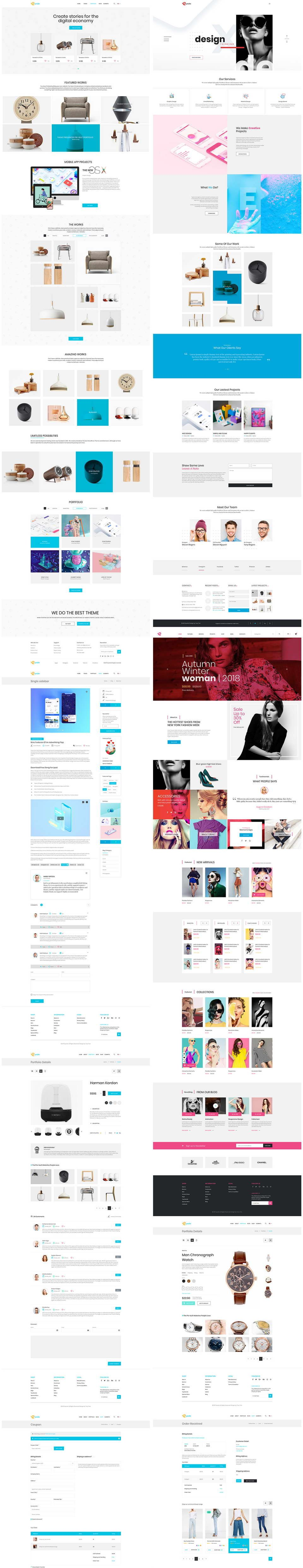 8 Free Website Templates for Sketch: creative, ecommerce and more ...