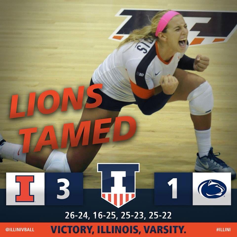 University Of Illinois Volleyball Big Ten Varsity Illinois