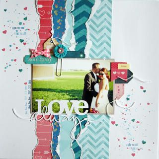 #papercraft #scrapbook #layout Love Always by andreaniemeier at Studio Calico