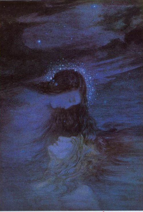 Night Covers the World with Her Hair - Daphne Allen / Enchanting Imagery