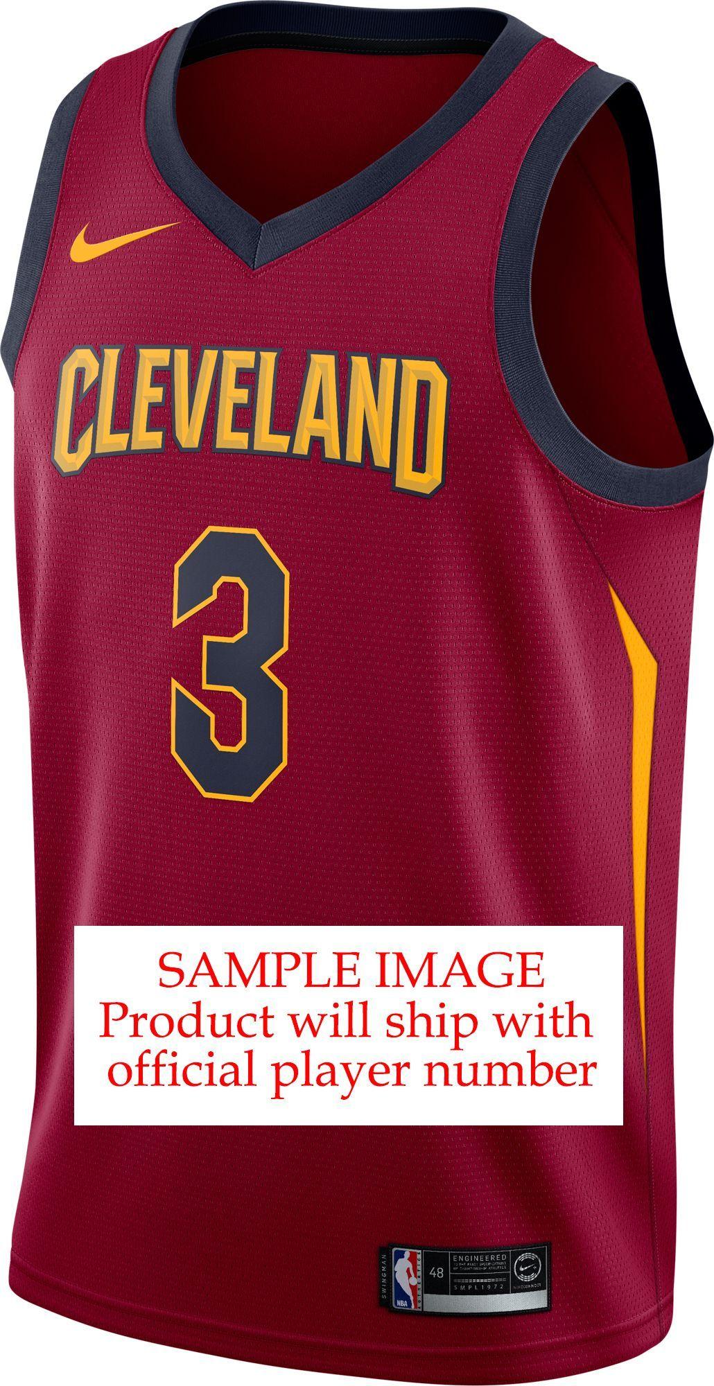 new style dc25f fb88a Nike Men's Cleveland Cavaliers Collin Sexton #2 Burgundy Dri ...