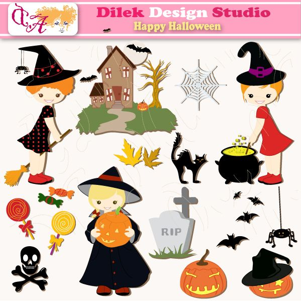 Ordinaire Dilek Happy Halloween Clipart Perfect For Your Craft Project, Scrapbooking,  Invitation, Web Design