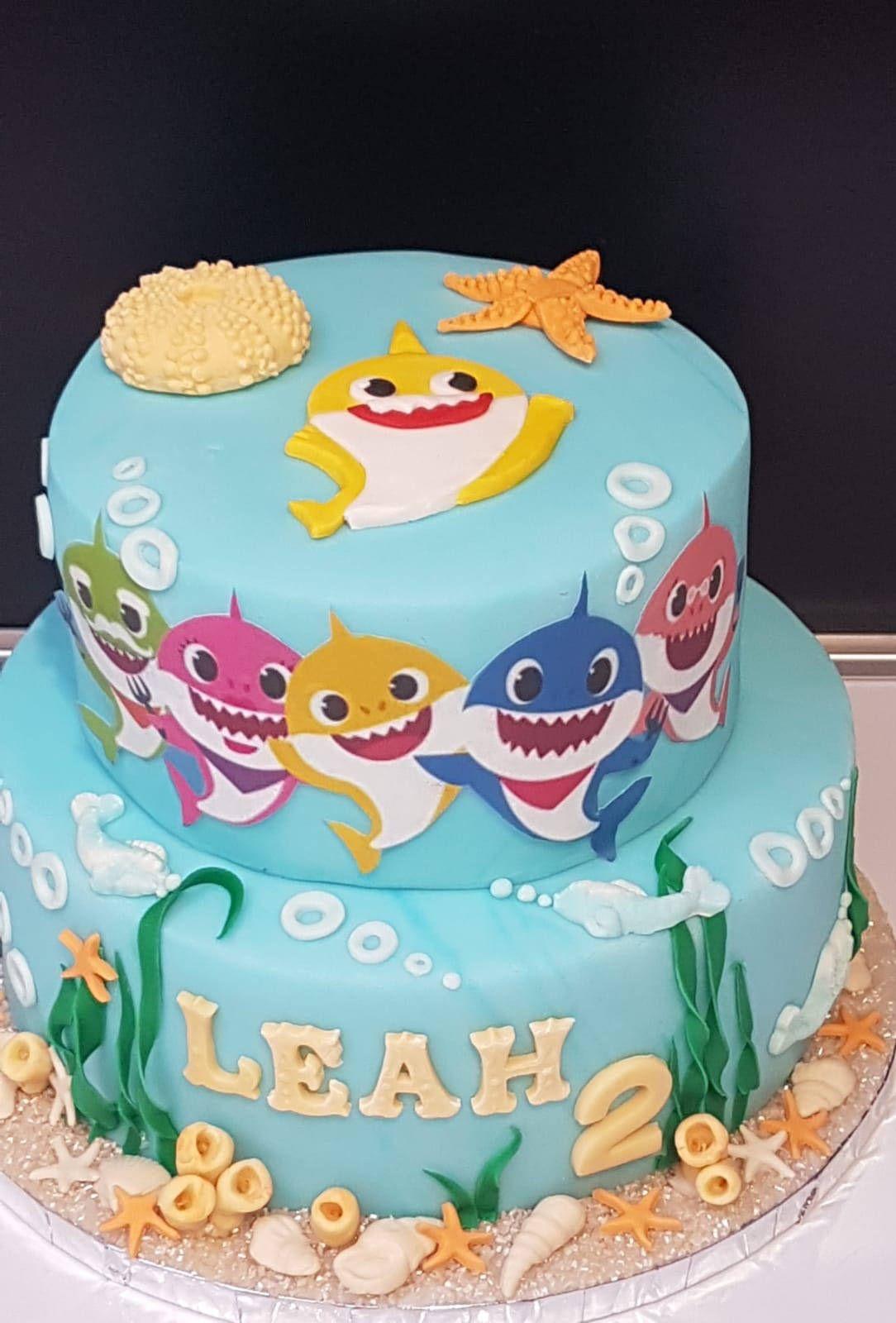 Baby Shark Cake Torte Kindergeburtstag Kinder Party Und Kinder