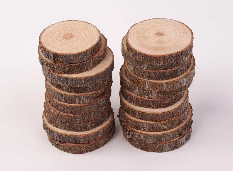 100 Pack 4 6 Cm Wood Slices 2 Inch Wood Slices Bulk Wood Slices Bulk Tree Slices Small Wood Slices For Crafts Tree Slices Wood Slices Large Wood Slices