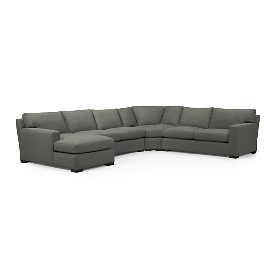 axis ii 4 piece sectional sofa storm crate and barrel client rh pinterest com
