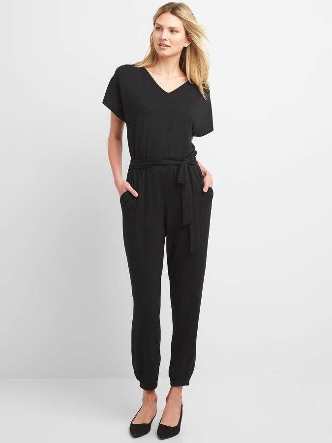 38d65c9914f2 Gap Softspun Short Sleeve Jumpsuit