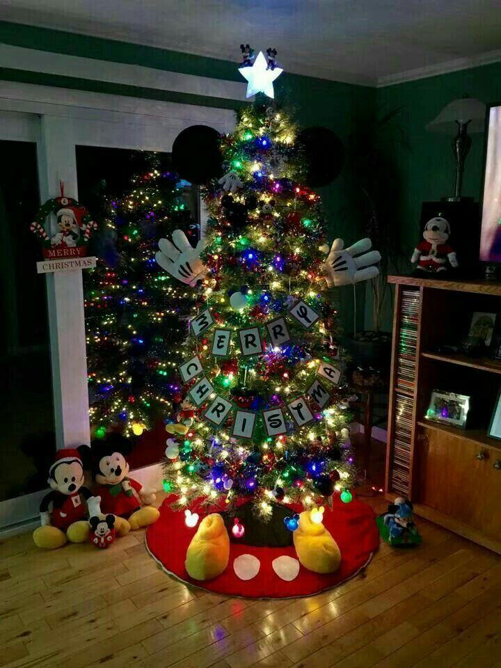 Arbol Fe Navidad Decorado De Mickey Villa Pinterest Christmas - Fotos-arbol-navidad-decorados