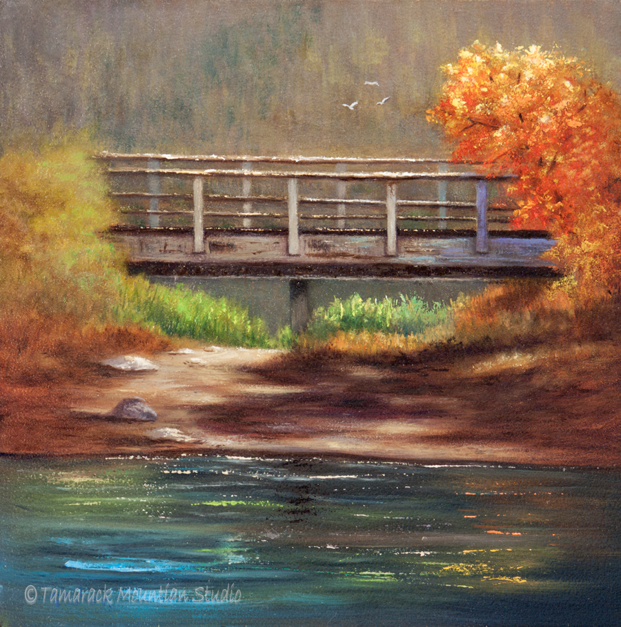 """The Bridge at Buttonhook"" oil painting Painting"