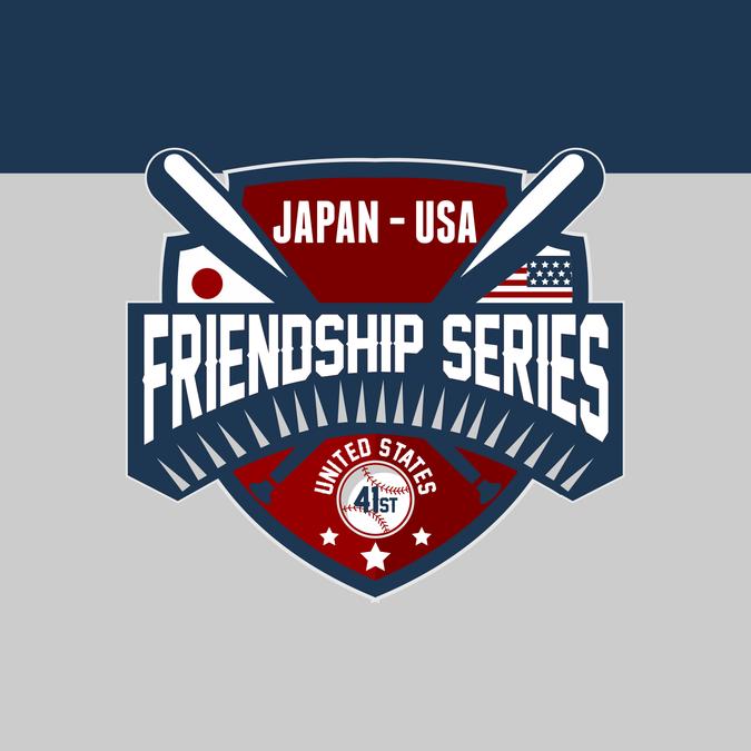 Logo For The 41st Friendship Series Sanctioned By Pony Baseball And Softball And Usa Baseball By Bangkitnya Alya Geometric Logo Usa Baseball Logos