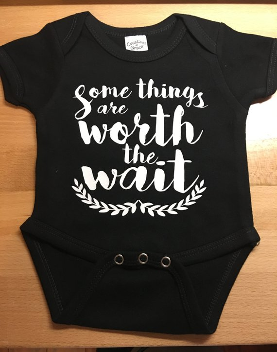 37d4b4549 Some things are worth the wait Baby Announcement Onesie | Products ...
