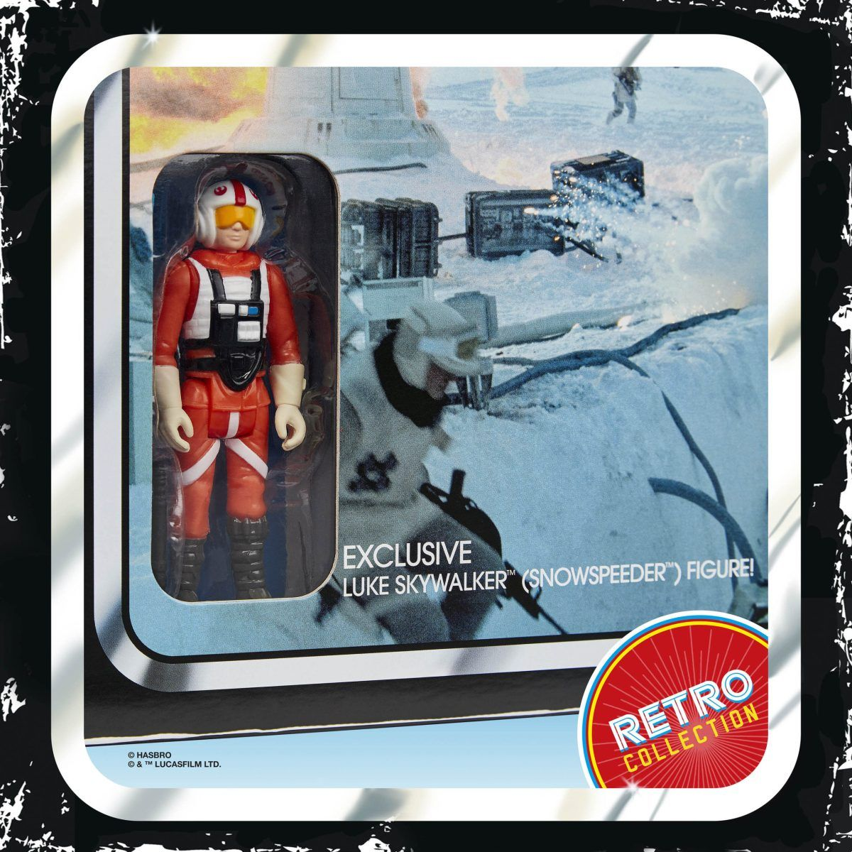 Star Wars Retro Collection HOTH ICE PLANET ADVENTURE GAME w Exclusive Luke Pilot
