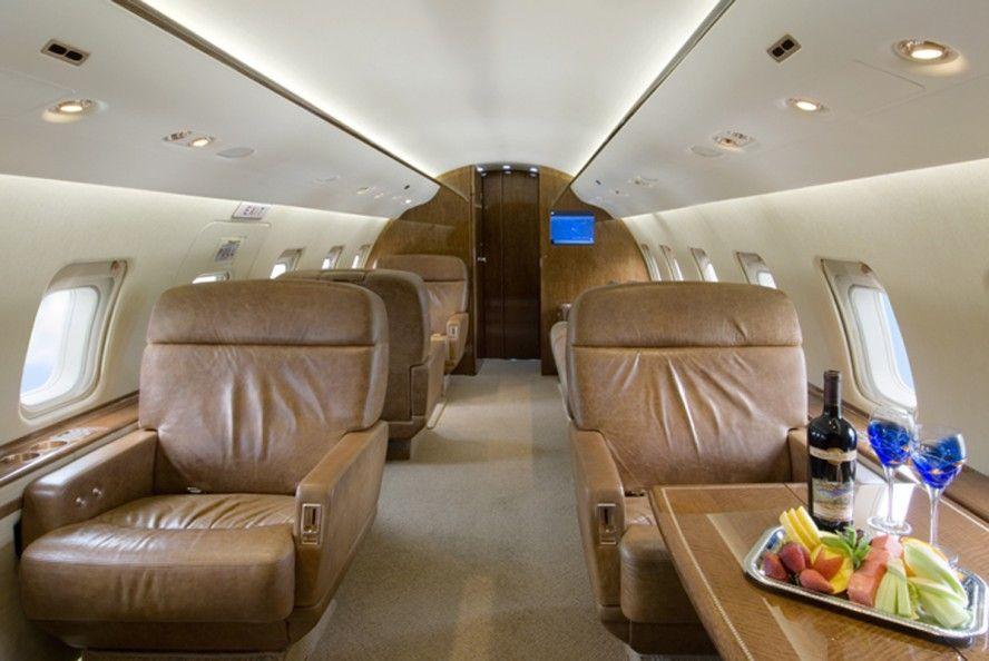 Elegant Private Jet Interior Design Is Designed Using The