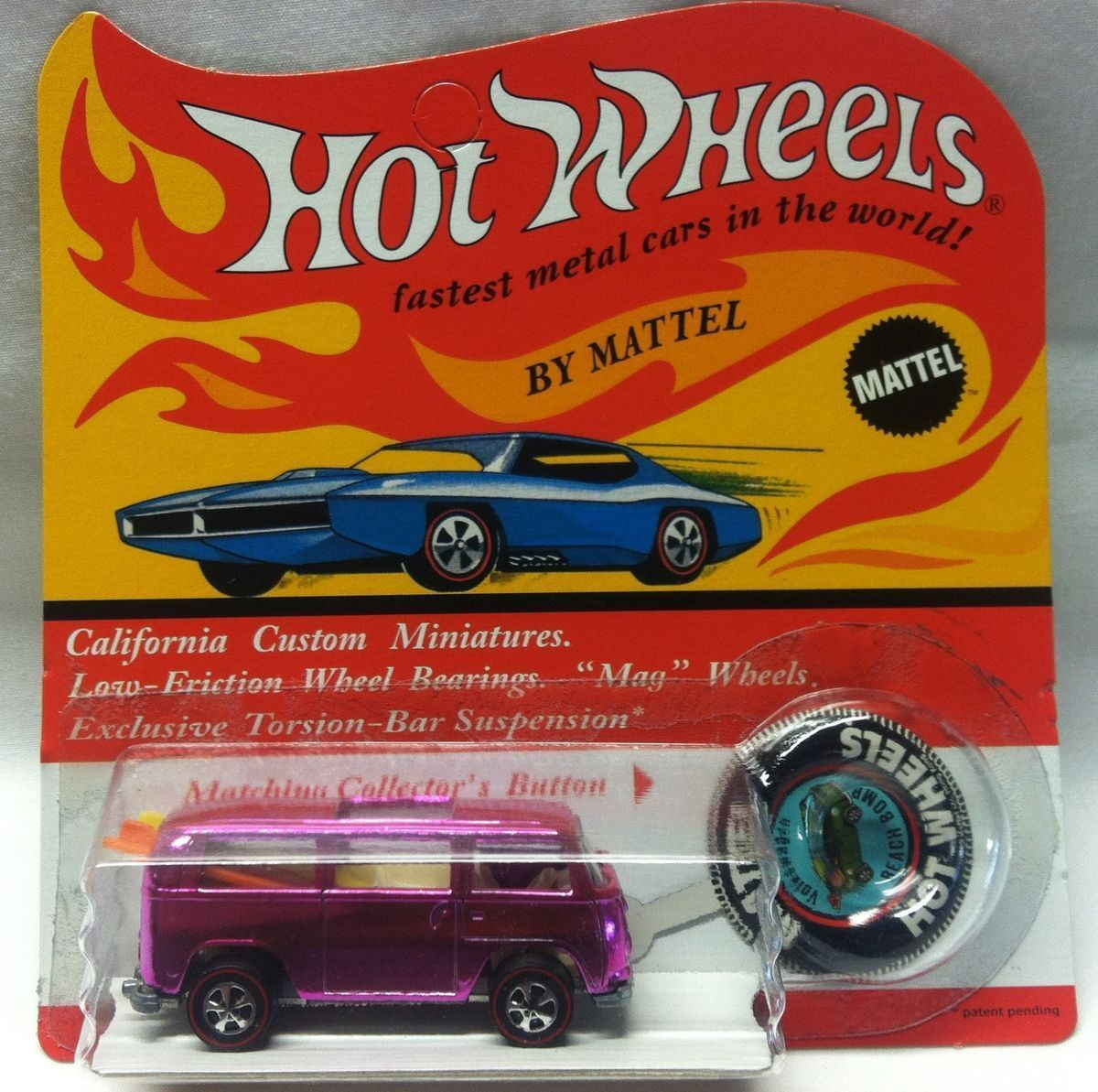 hot wheels 1969 hot pink beach bomb rear loader in mint blister pack rh pinterest com