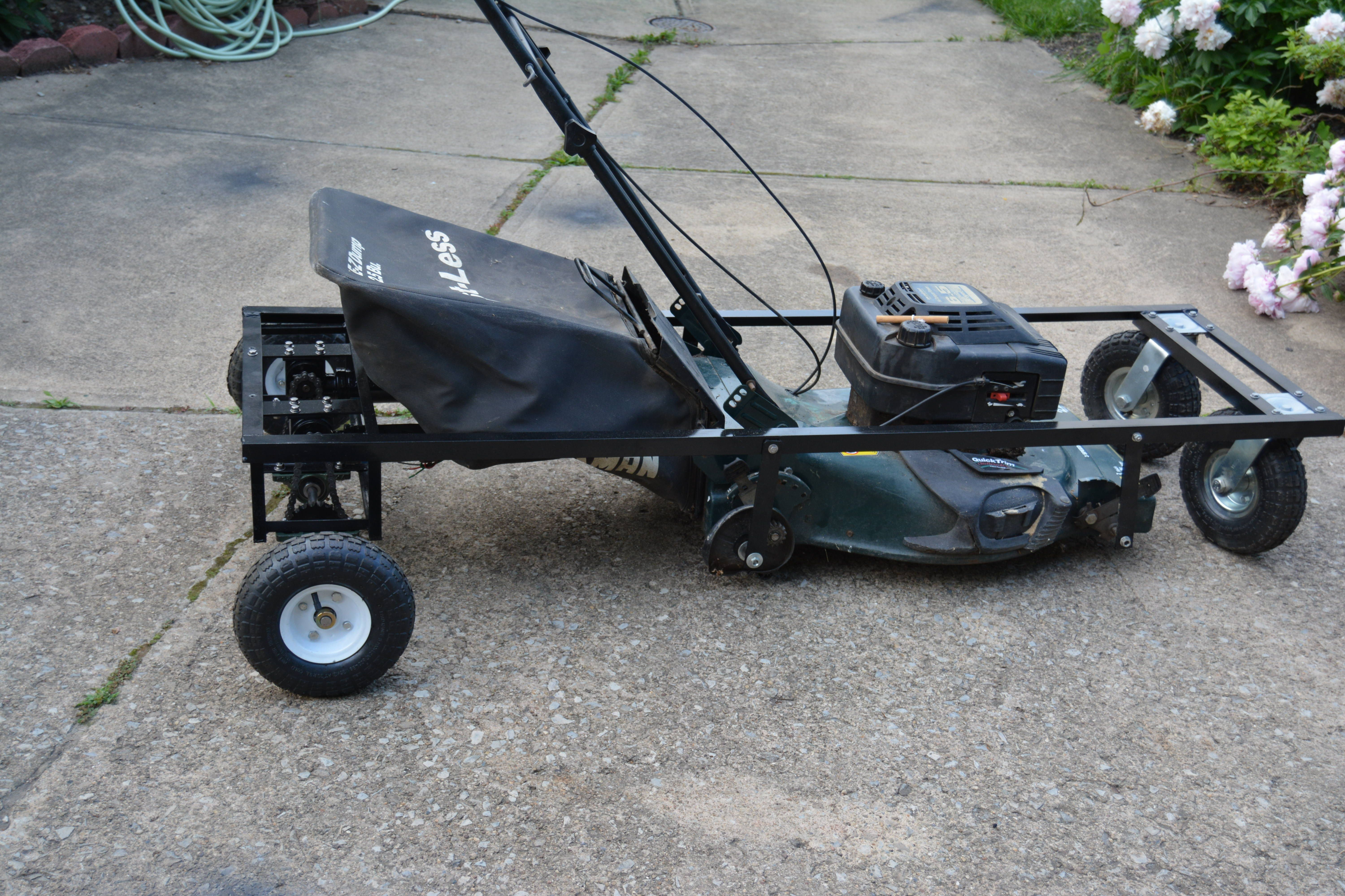 """RC Remote controlled Lawn mower Mostly 1 8"""" or 3 16"""" angle iron"""