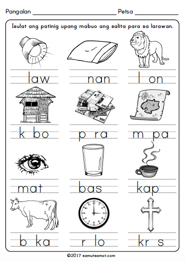 filipino worksheets for grade 1