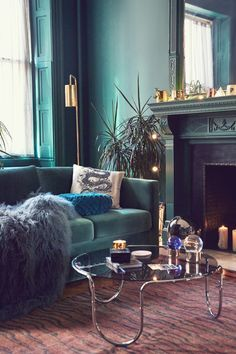 beautiful teal green blue living room with a lot of light and color rh pinterest com
