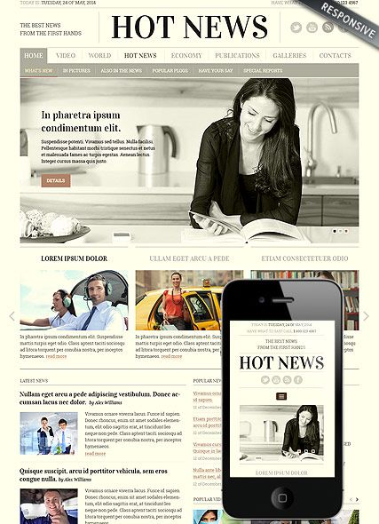 Newspaper Bootstrap Template Id 300111817 Best Website Templates Template Id Bootstrap Template