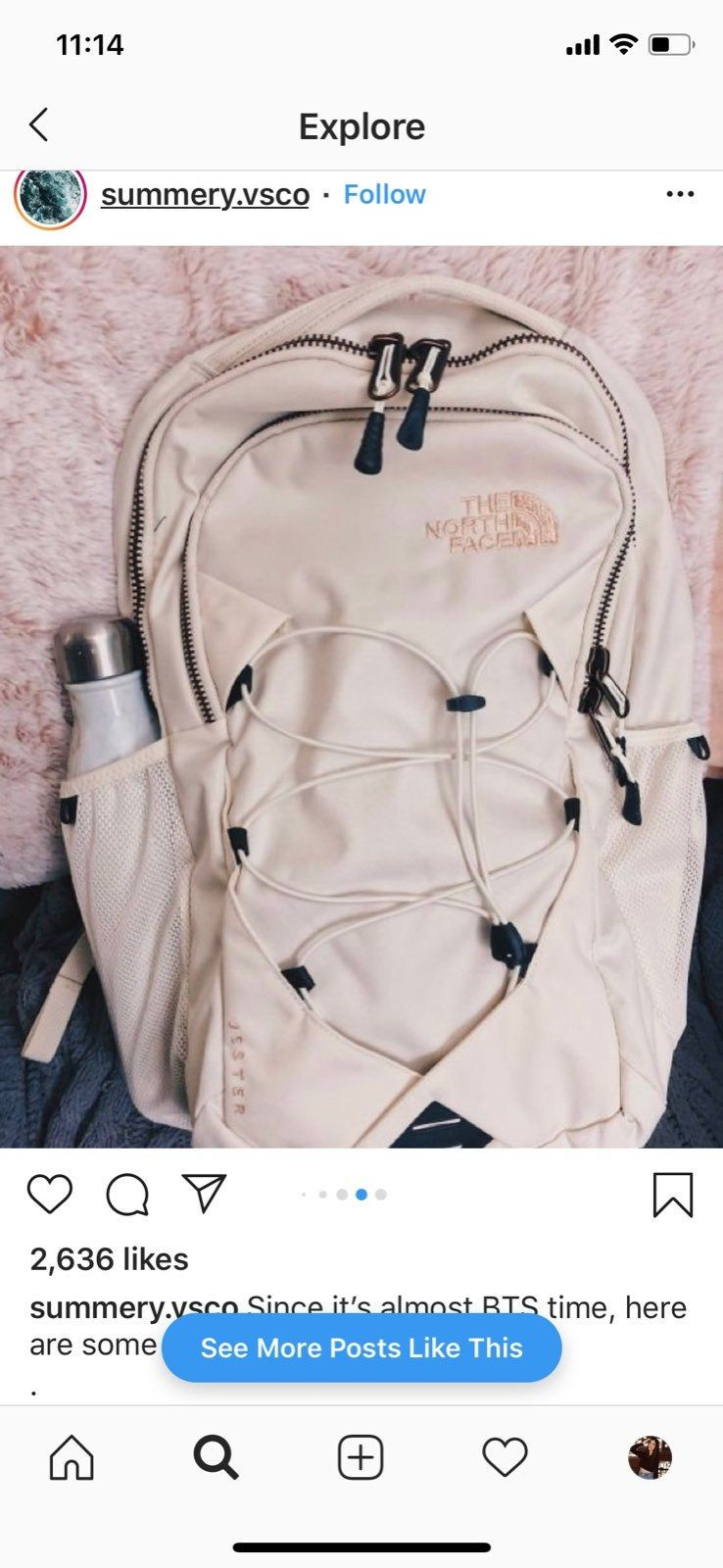 e2941f167 ISO The North Face Jester Backpack Vintage White / Rose Gold • I am ...