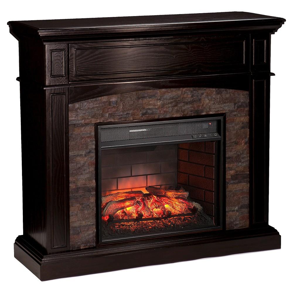 greenwood faux stone corner infrared electric media fireplace black rh pinterest es