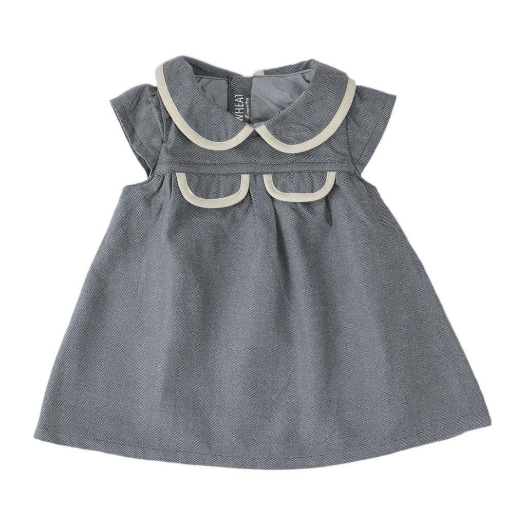 Babyssimo.de - Wheat Kleidchen grau-weiß
