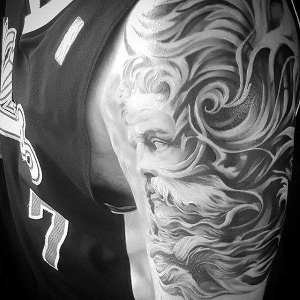 Greek God Mens Filigree Half Sleeve Tattoos Tattoo Pinterest