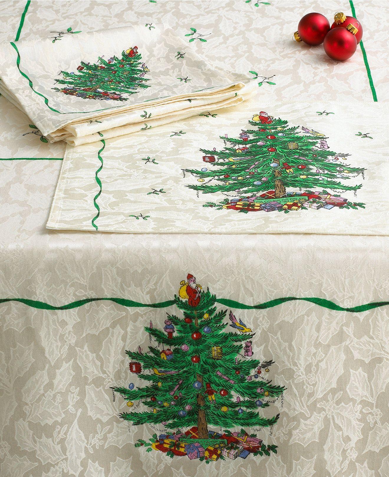 Spode Christmas Tree Table Linens Collection. | China: Christmas ...