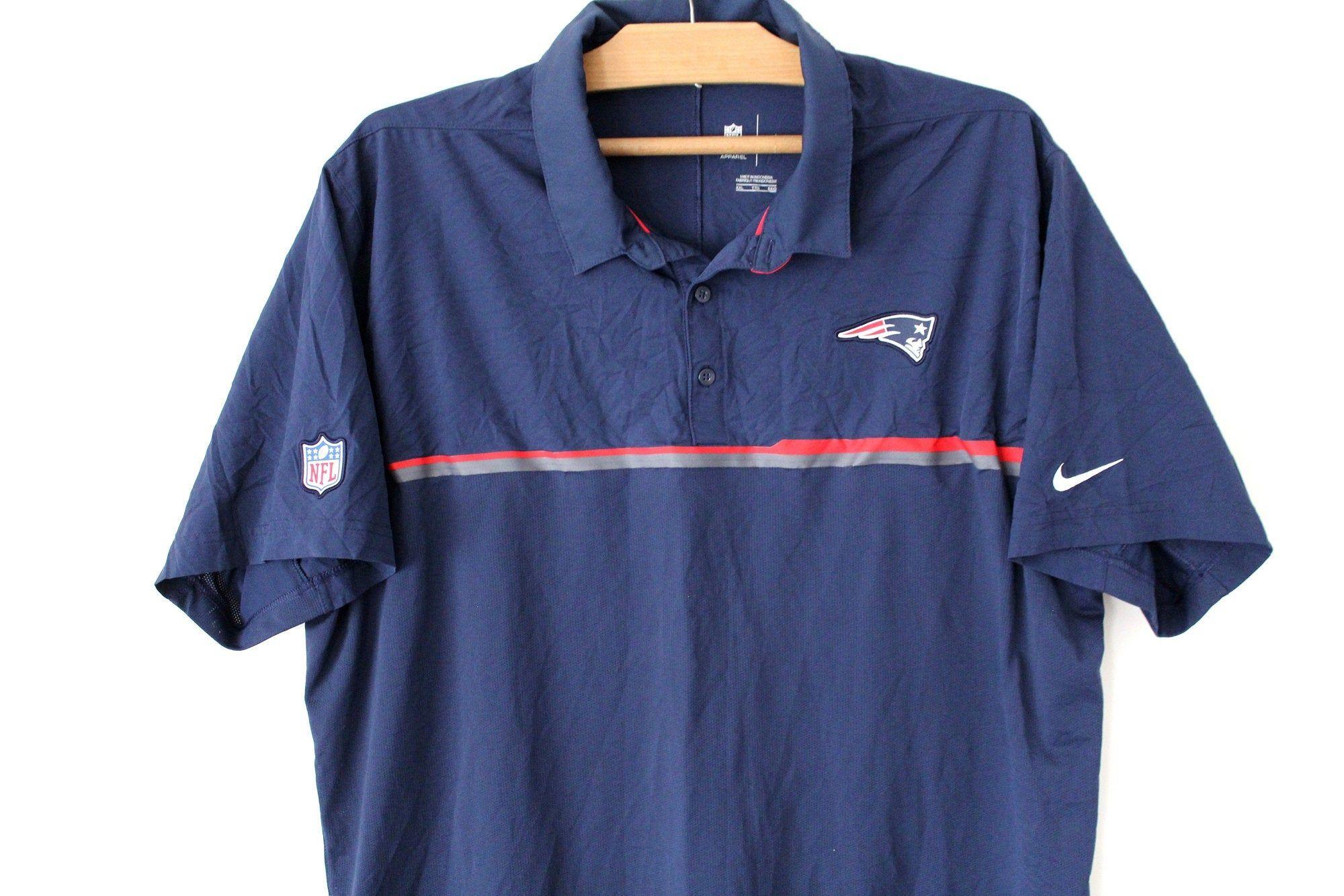 Vintage Nike Shirt Nike Nfl New England Patriots Shirt Blue Collard Nike Football T Shirt Nike Sportswear Patriotic Shirts Training Shirts Football Tshirts