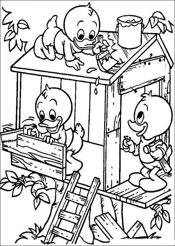 Donald Duck Coloring Pages And Daisy Printable 18199