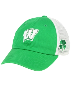 22345760680 Top of the World Wisconsin Badgers Charm Adjustable Cap - Green White  Adjustable