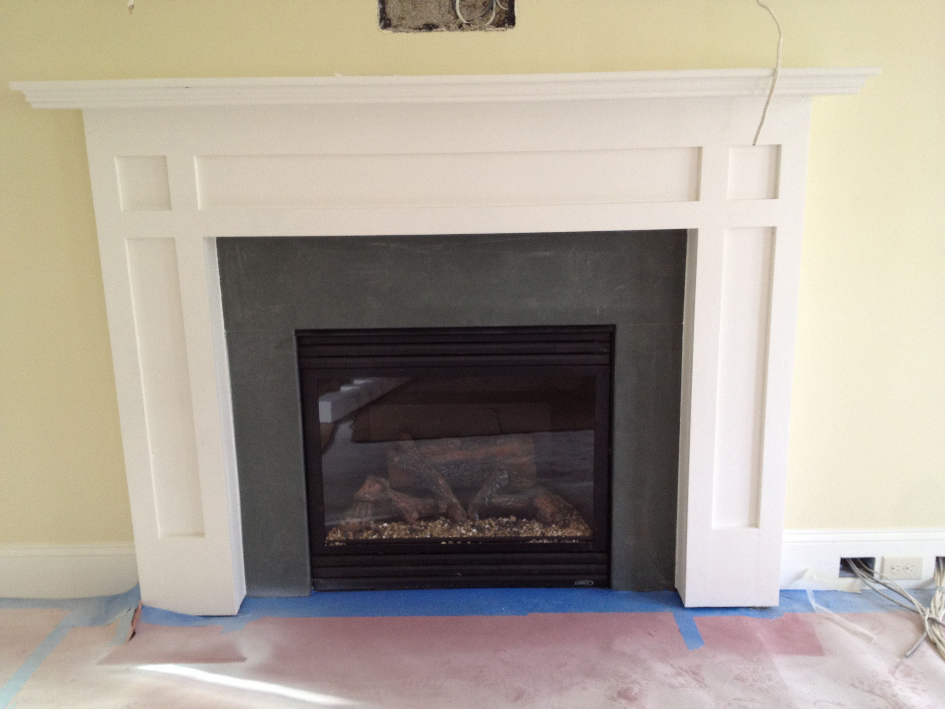 Slate fireplace surround and Slate fireplace