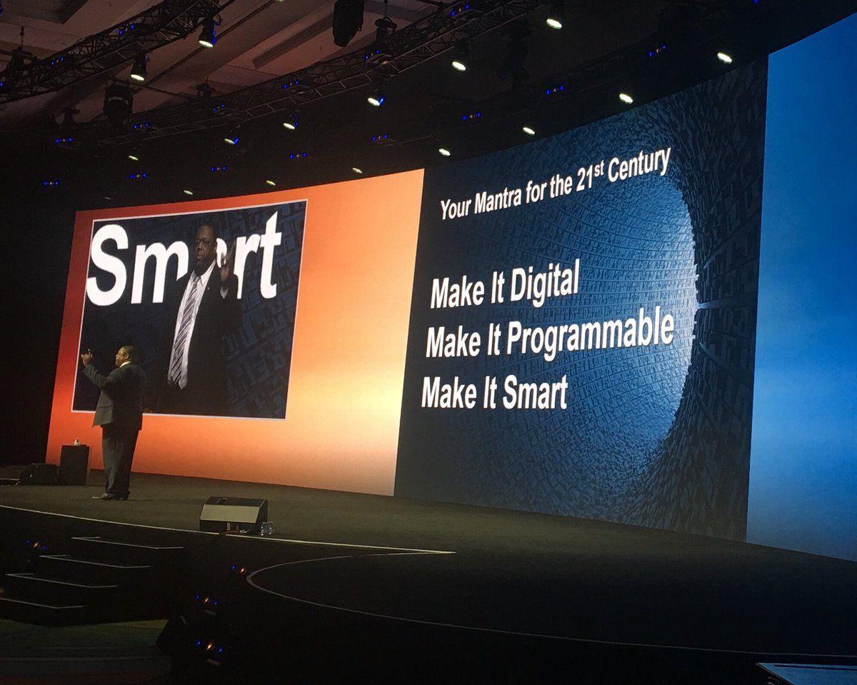 Make it digital, make it programmable, and make it smart. @DarylPlummer #GartnerSYM @Gartner_SYM